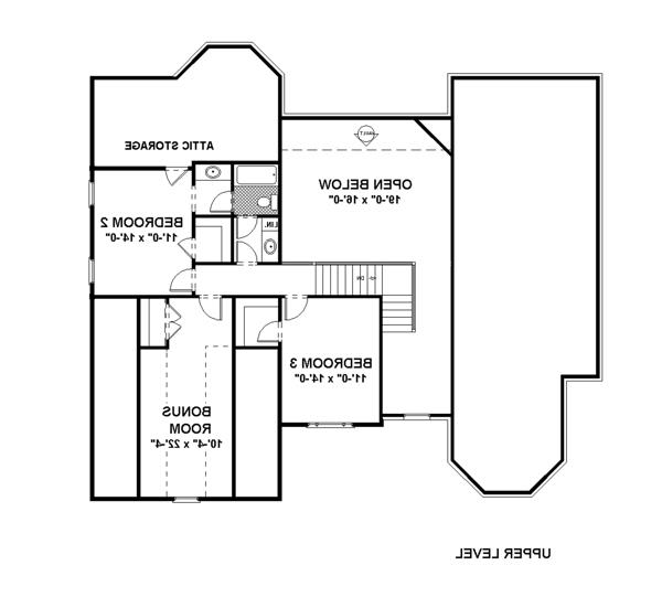 Upper Floorplan image of Featured House Plan: BHG - 6255