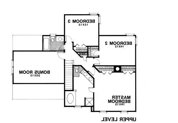 Upper Level Floorplan image of Featured House Plan: BHG - 7610