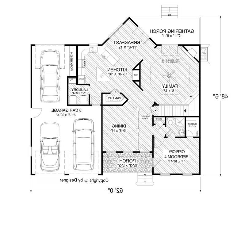 First Floor image of Featured House Plan: BHG - 4513