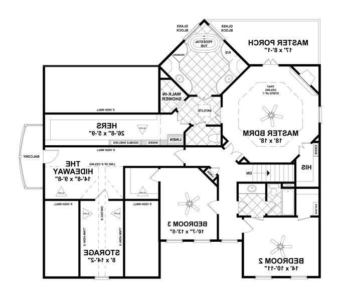 Second Floor image of Featured House Plan: BHG - 4513