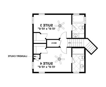 Upper Floorplan image of Featured House Plan: BHG - 4708