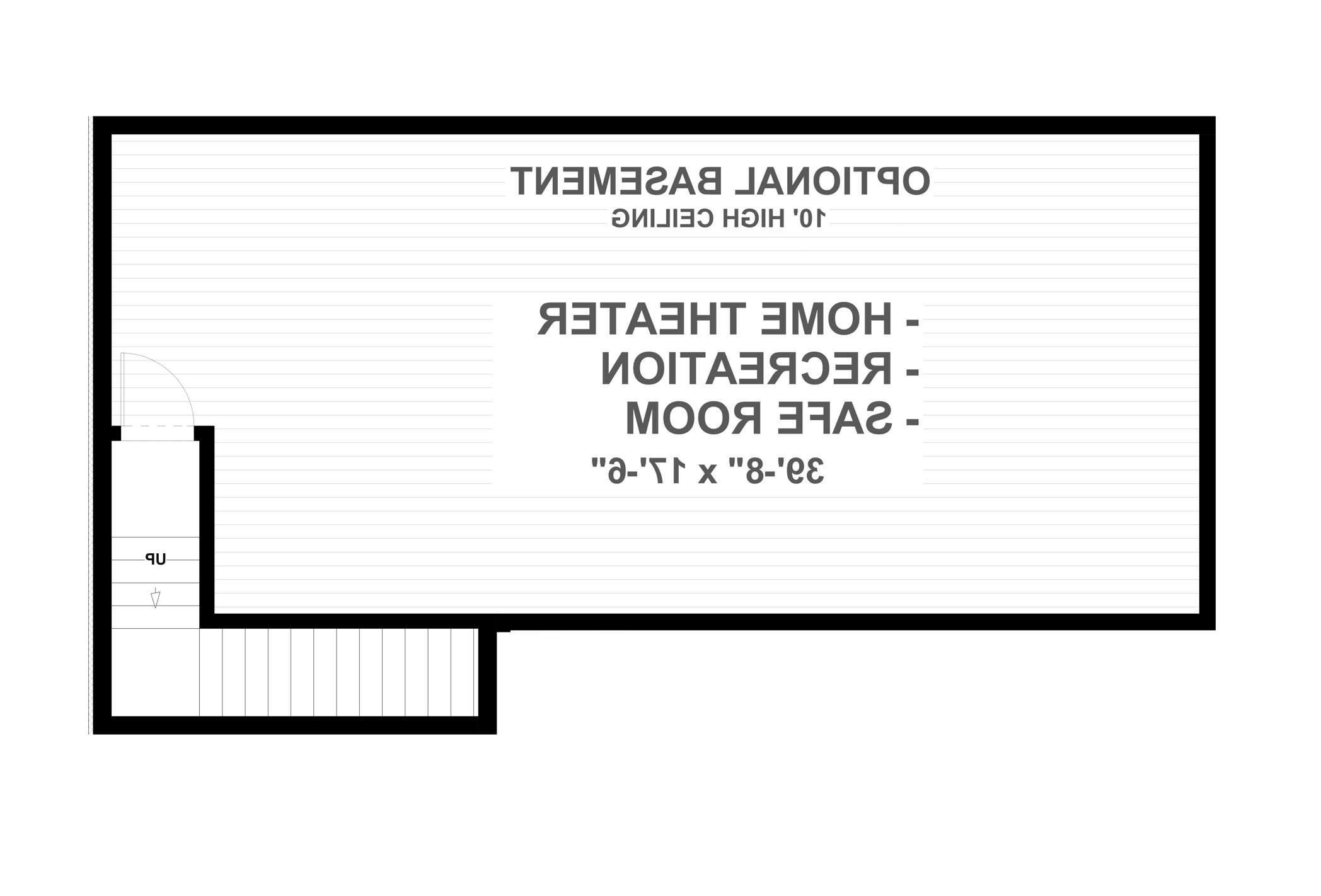 Basement Plan image of Featured House Plan: BHG - 4710