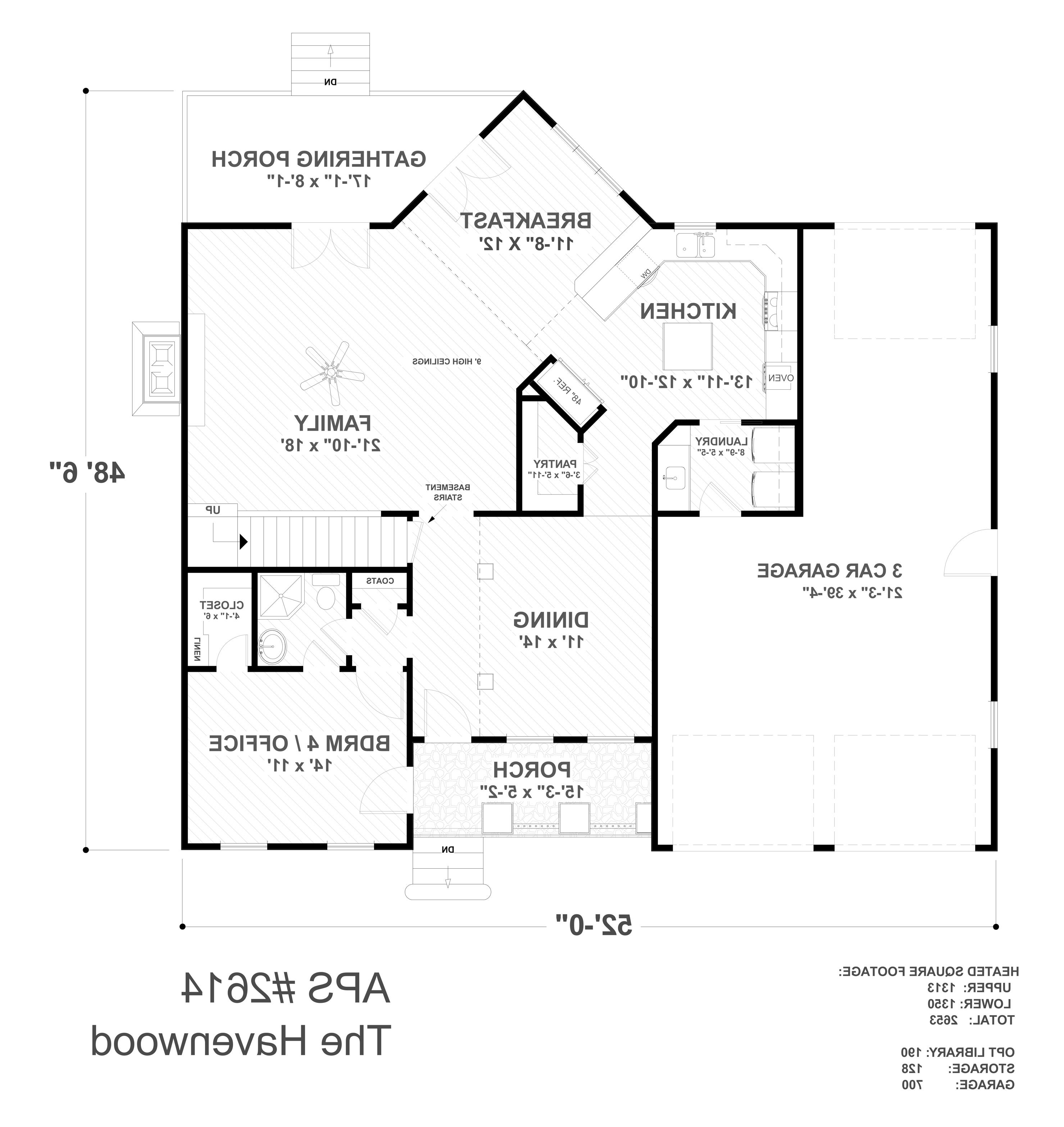 First Floor Plan image of Featured House Plan: BHG - 4710