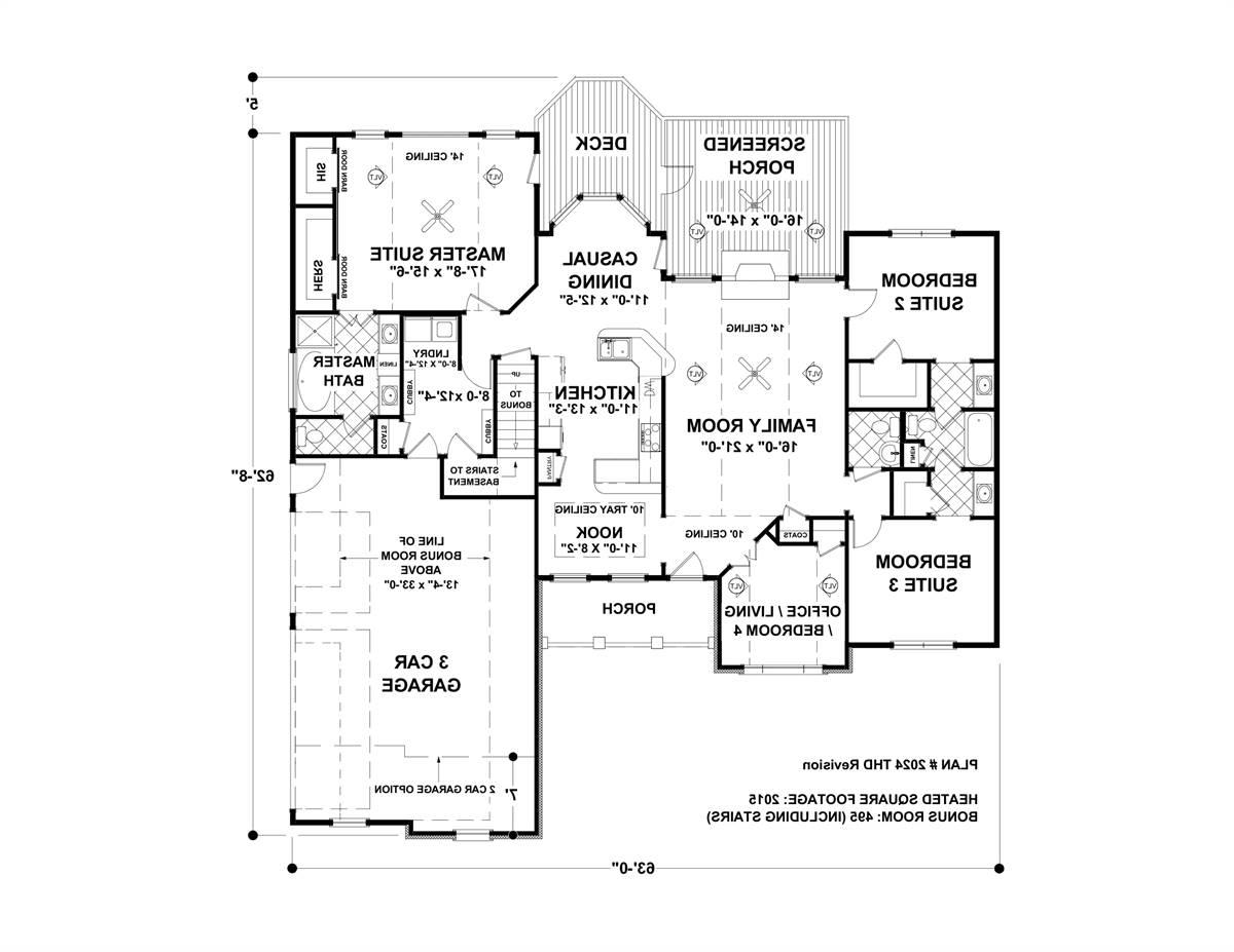 First Floor image of Featured House Plan: BHG - 4304