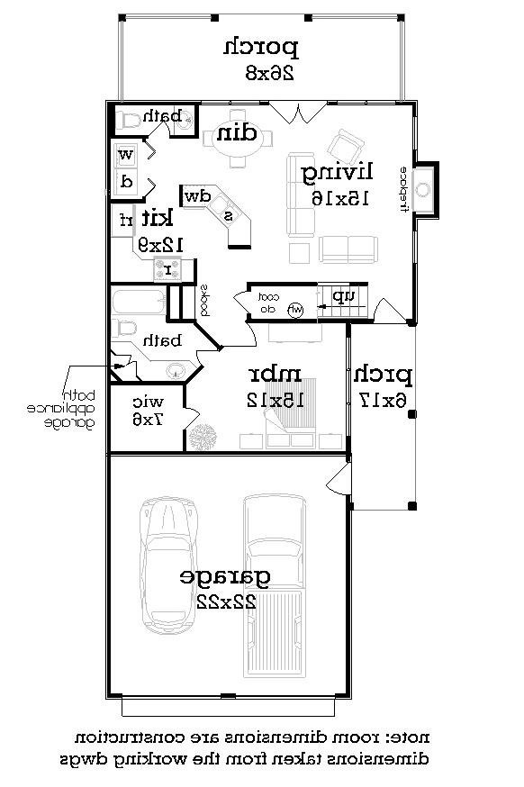 Main Level Floor Plan image of Featured House Plan: BHG - 2050