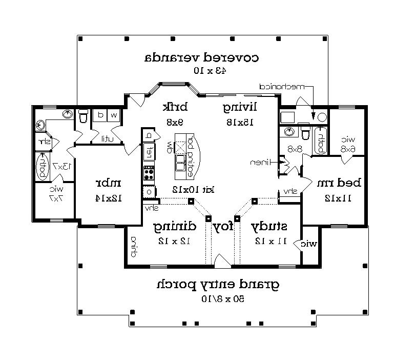 Floor Plan image of Featured House Plan: BHG - 4745