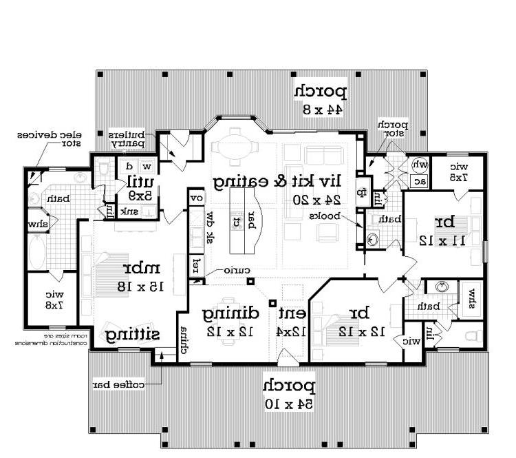 Floor Plan image of Featured House Plan: BHG - 5573