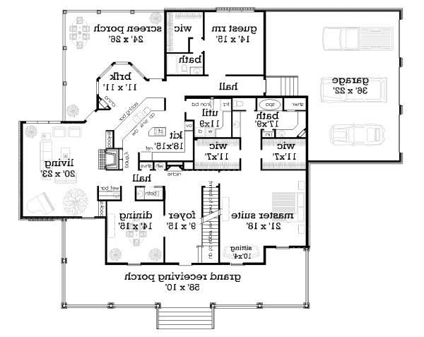 First Floor Plan image of Featured House Plan: BHG - 5288