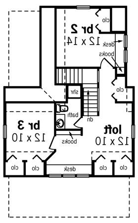 Second Floor Plan image of Featured House Plan: BHG - 8324