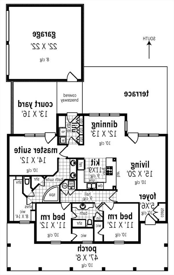 Floor Plan image of Featured House Plan: BHG - 3064