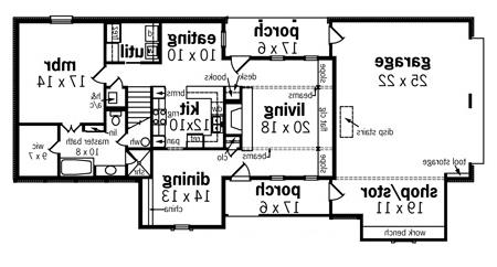 First Floor Plan image of Featured House Plan: BHG - 8622