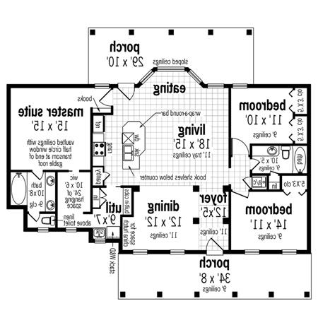 Main Level Floor Plan image of Featured House Plan: BHG - 4294