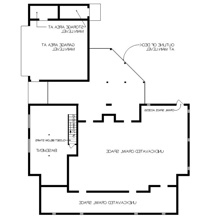 Foundation - Partial Basement image of Featured House Plan: BHG - 5370