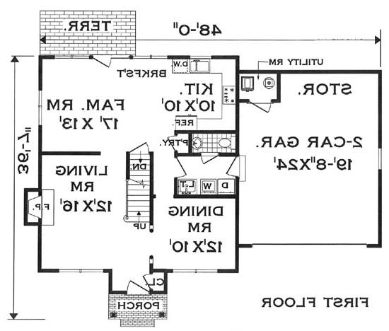 first floor image of Featured House Plan: BHG - 5804