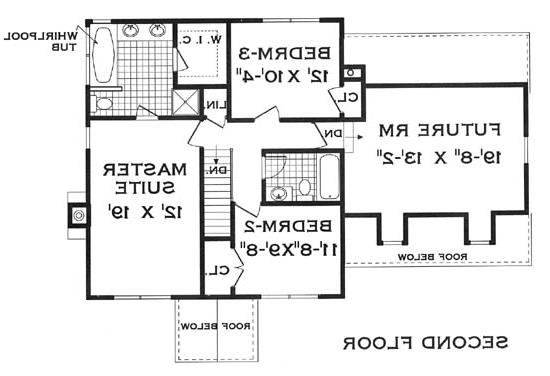 second floor image of Featured House Plan: BHG - 5804