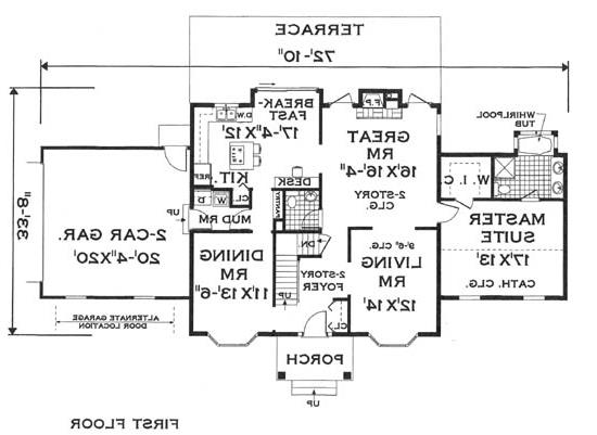 first floor image of Featured House Plan: BHG - 5798