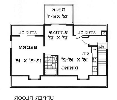 Upper Level image of Featured House Plan: BHG - 8365