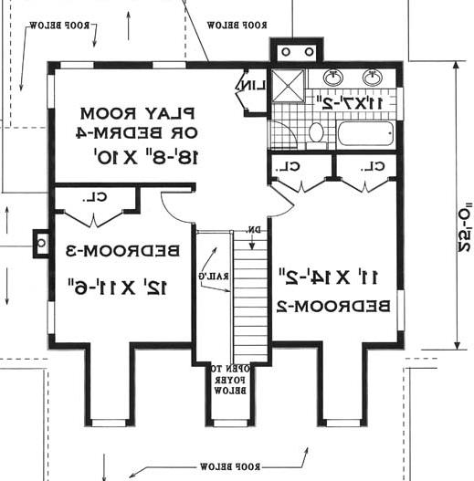 second floor image of Featured House Plan: BHG - 7644