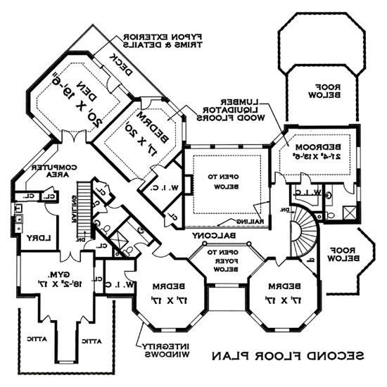 Second Floor Plan image of Featured House Plan: BHG - 4712