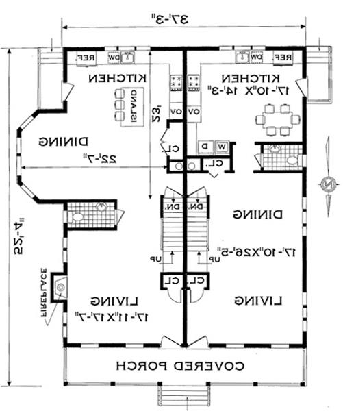 First Floor Plan image of Featured House Plan: BHG - 4285