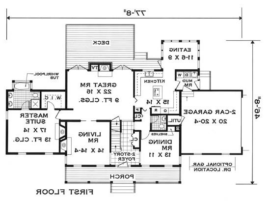 first floor image of Featured House Plan: BHG - 5624
