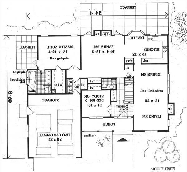 first floor image of Featured House Plan: BHG - 5626
