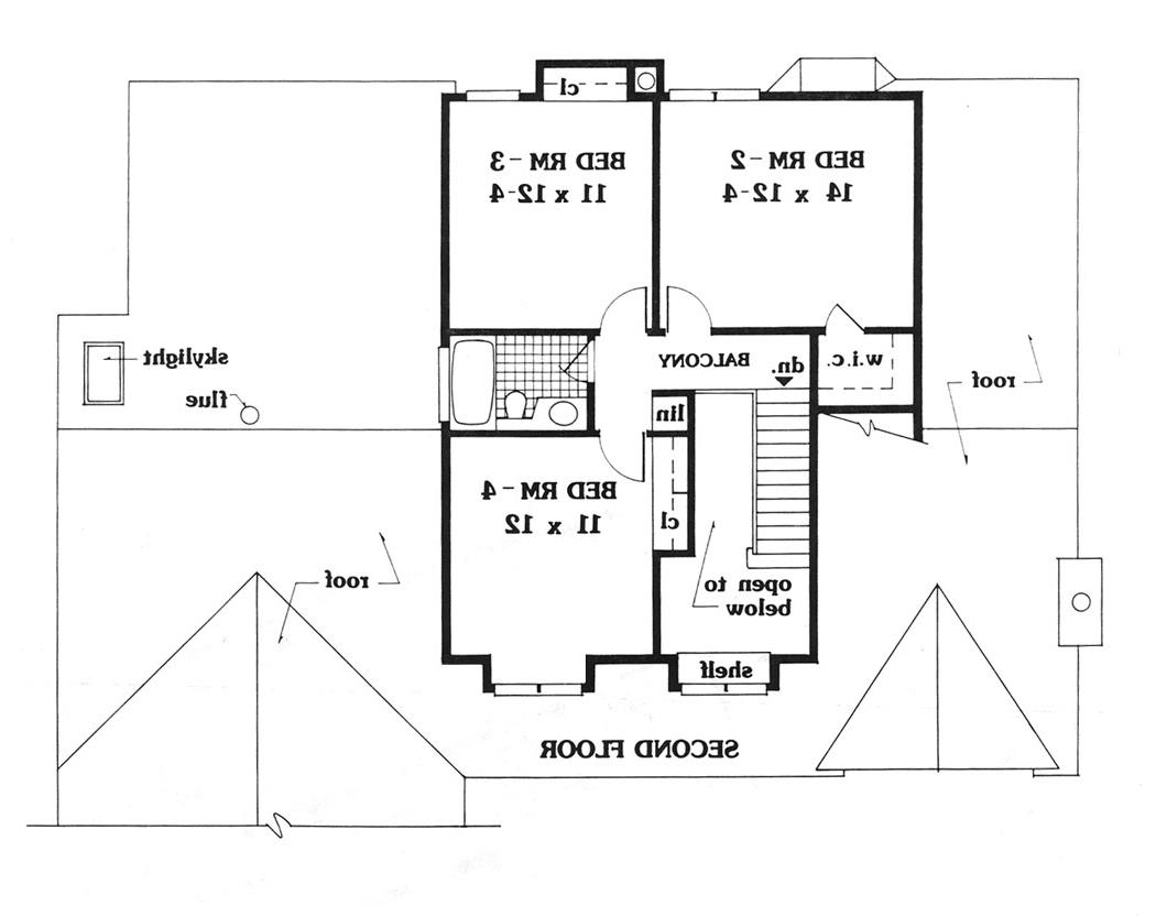 second floor image of Featured House Plan: BHG - 5626