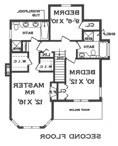second floor image of Featured House Plan: BHG - 5671
