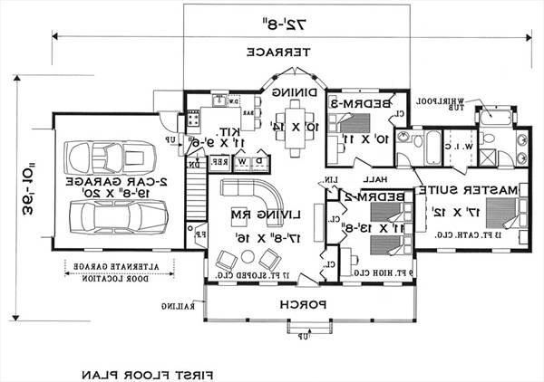 Fist Floor image of Featured House Plan: BHG - 5628
