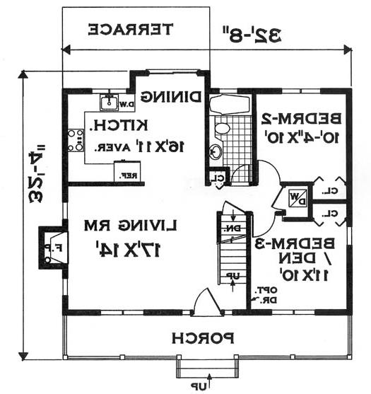 first floor image of Featured House Plan: BHG - 7134