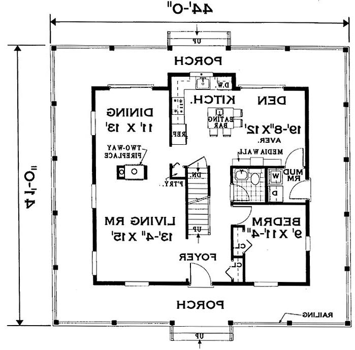 first floor image of Featured House Plan: BHG - 7005