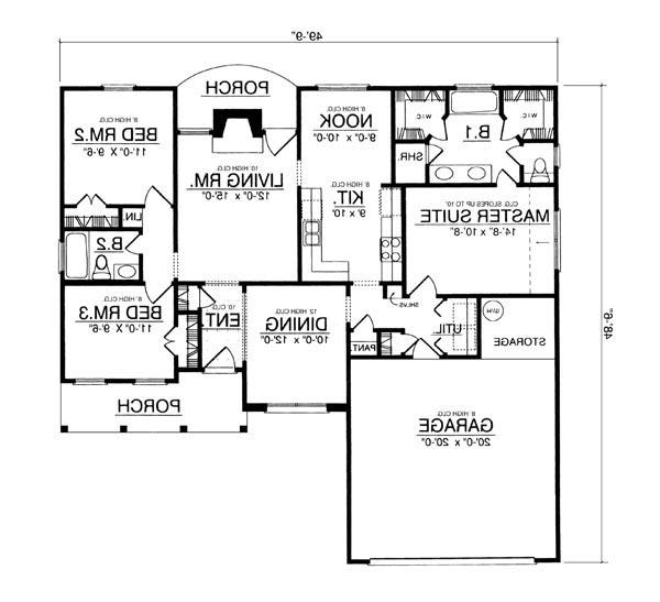 Featured House Plan: BHG - 7944 on 30 x 50 floor plans, 50 x 70 floor plans, 50 x 50 floor plans, 40 x 50 floor plans, 20 by 50 house plans, 50 x 60 floor plans, 20 x 50 floor plans,