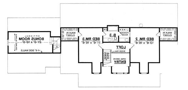 Second Floor image of Featured House Plan: BHG - 8205