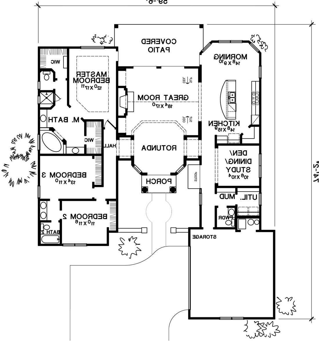 1st Floor Plan image of Featured House Plan: BHG - 1776