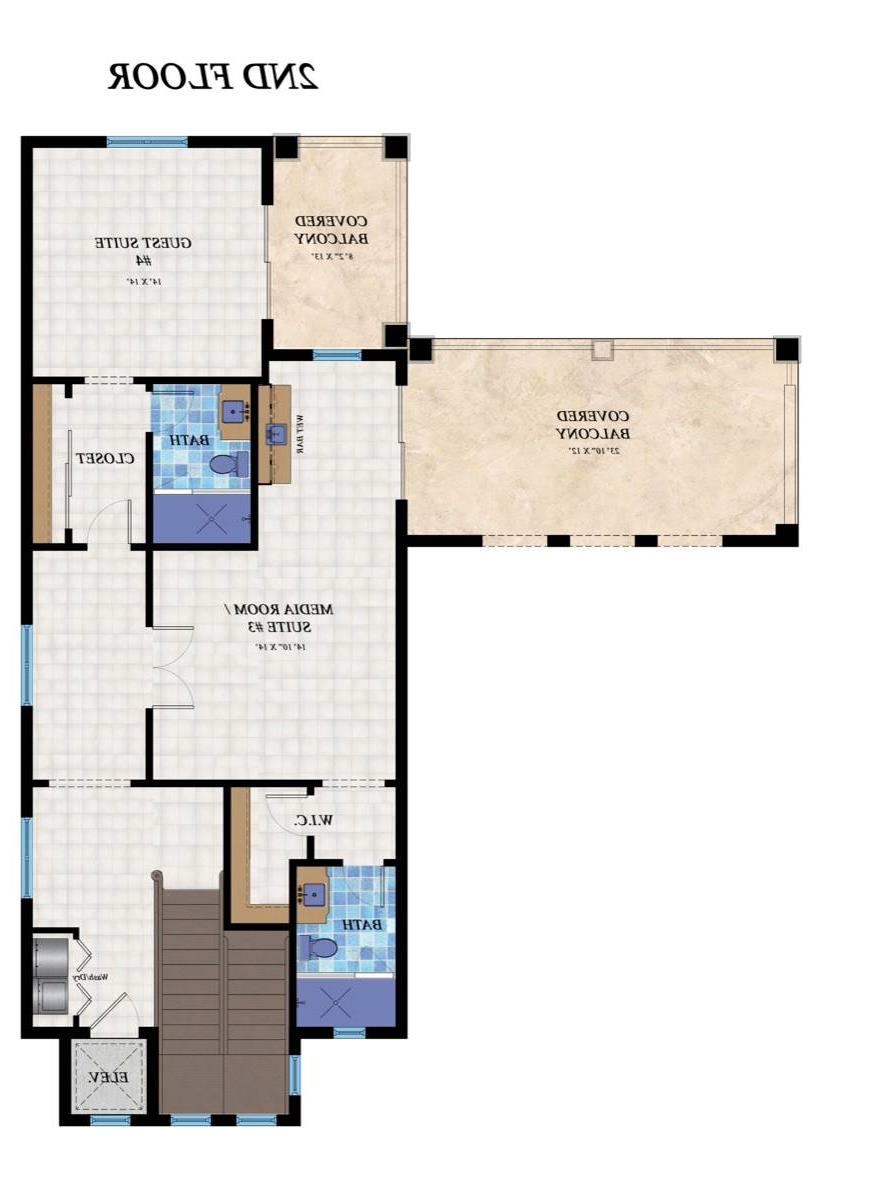 2nd Floor Plan image of Featured House Plan: BHG - 7536