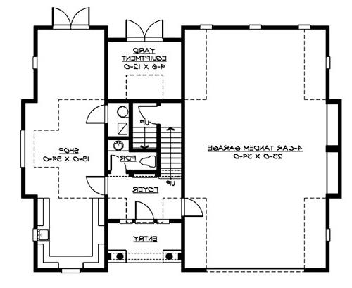 Main Floor image of Featured House Plan: BHG - 3205