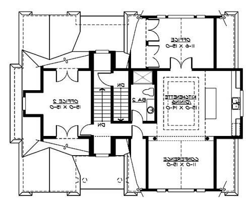 Upper Floor image of Featured House Plan: BHG - 3205