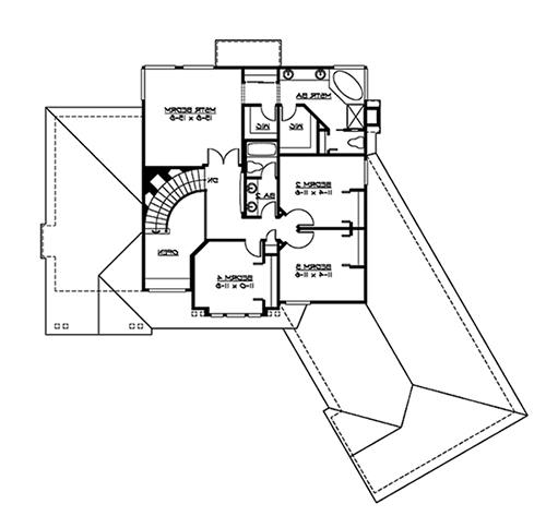 Upper Floor image of Featured House Plan: BHG - 4848