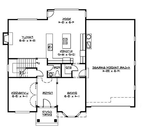 Main Floor image of Featured House Plan: BHG - 3220