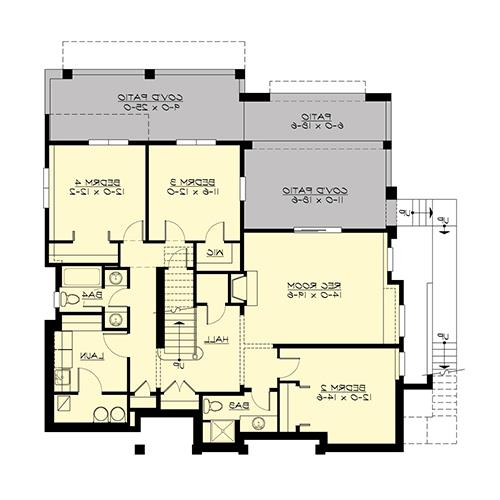 Lower Floor image of Featured House Plan: BHG - 4661