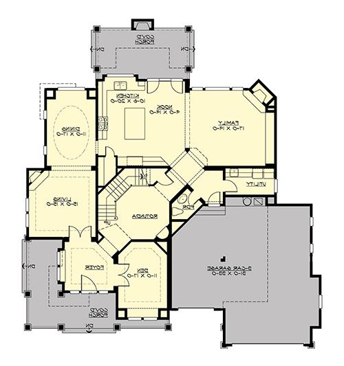 Main Floor image of Featured House Plan: BHG - 4660
