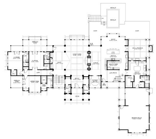 Main Floor image of Featured House Plan: BHG - 3233