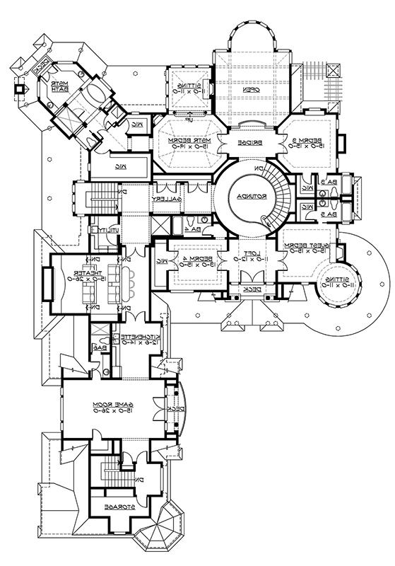 2nd Floor Plan image of Featured House Plan: BHG - 3235