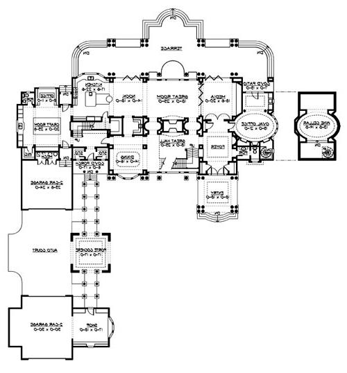 Main Floor image of Featured House Plan: BHG - 3236