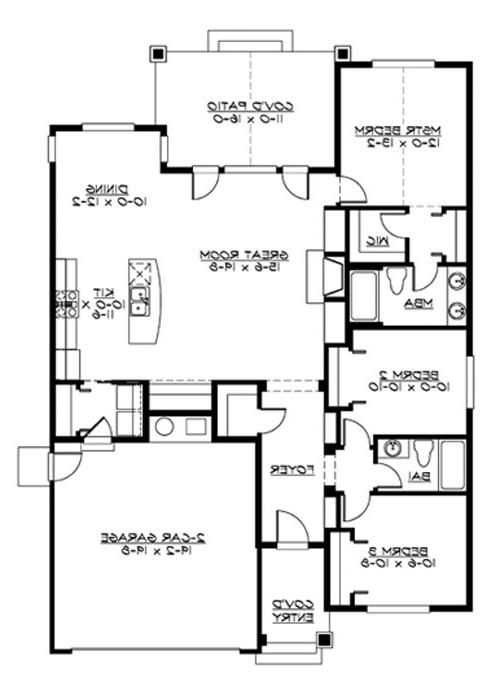 Main Floor image of Featured House Plan: BHG - 3239