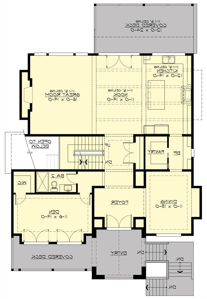 Main Floor Plan image of Featured House Plan: BHG - 7464