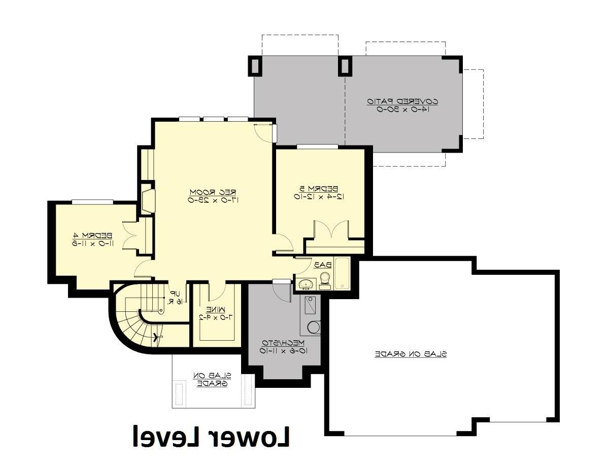 Lower Floor image of Featured House Plan: BHG - 4291