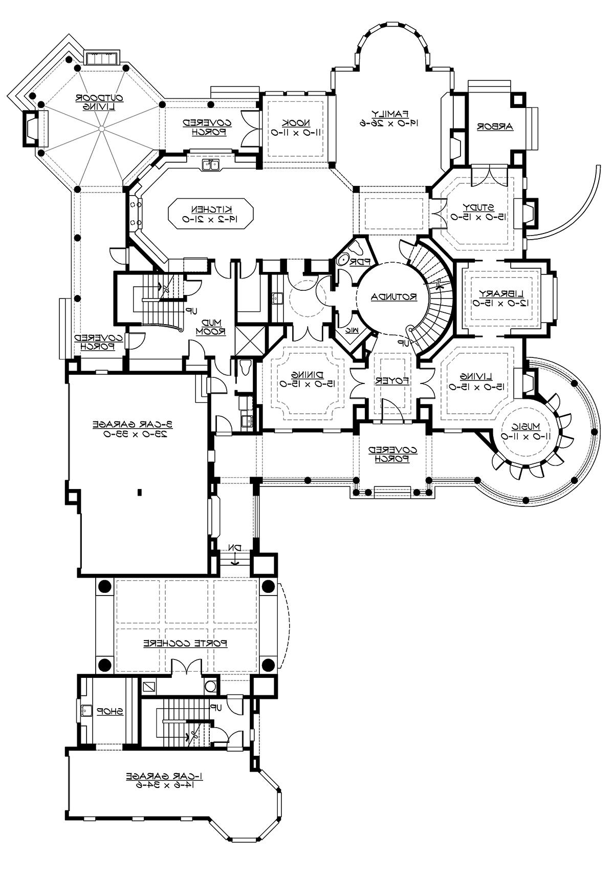 1st Floor Plan image of Featured House Plan: BHG - 3235