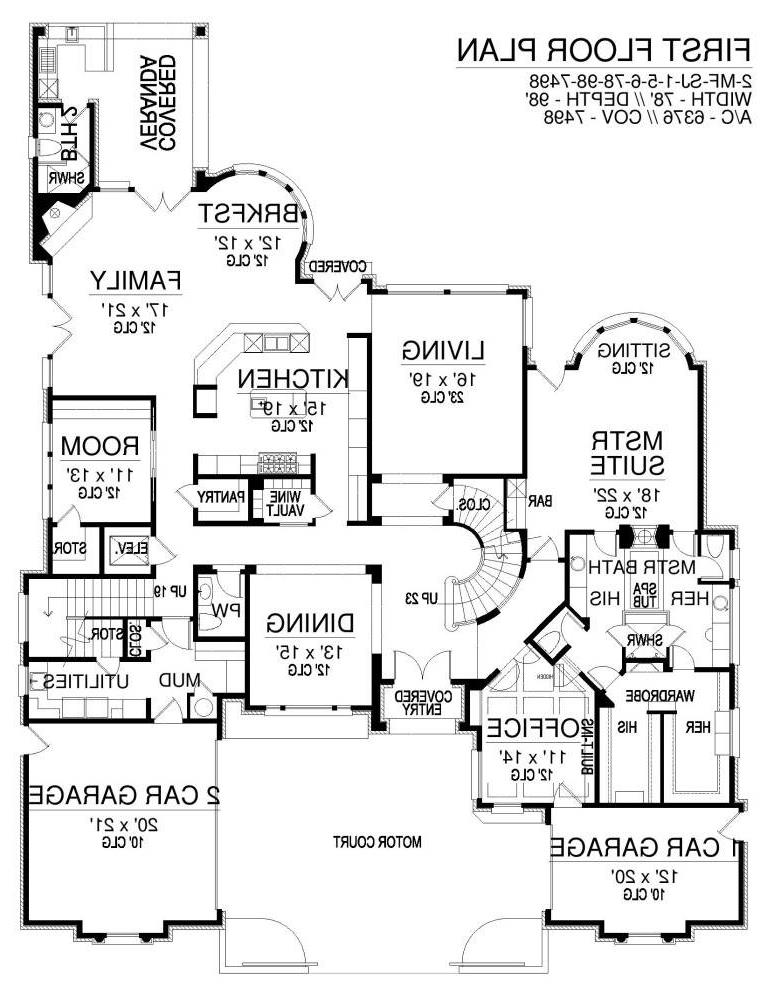 First Floor image of Featured House Plan: BHG - 6401