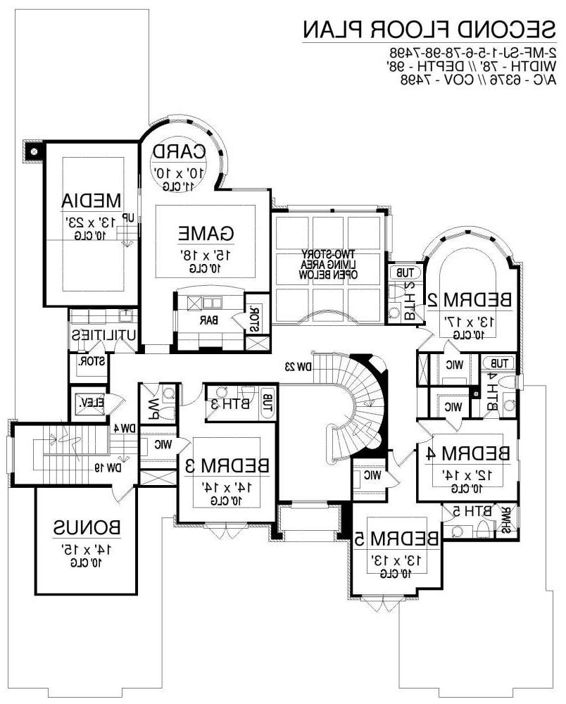 Second Floor image of Featured House Plan: BHG - 6401